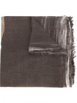 Кожаный шарф с аппликацией Cooper Cutuli Cult. Цвет: серый