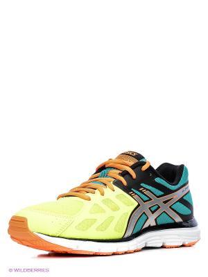 Беговые кроссовки GEL-ZARACA 3 ASICS. Цвет: желтый, черный, зеленый