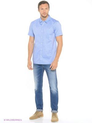 Рубашка MUSTANG. Цвет: синий