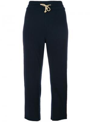 Укороченные спортивные брюки Mother. Цвет: синий