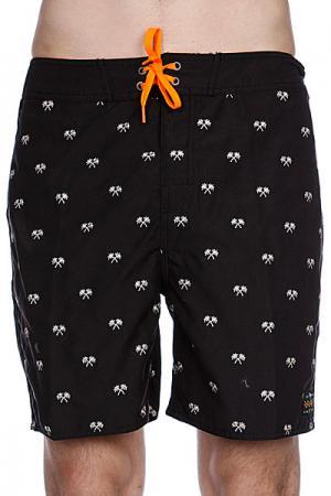 Пляжные мужские шорты  Palms Boardshort Blk Globe. Цвет: черный