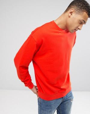 ASOS Оранжевый oversize‑свитшот. Цвет: красный