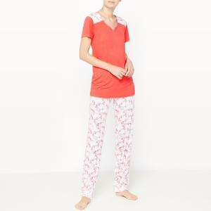 Пижама с короткими рукавами Escape DODO. Цвет: оранжево-красный
