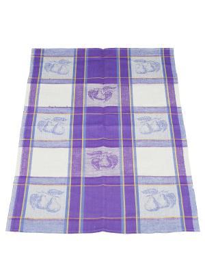 Полотенце жаккардовое Римейн. Цвет: фиолетовый,белый