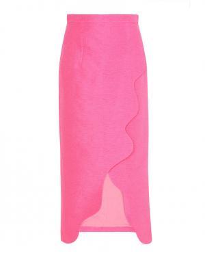 Юбка из шелка и хлопка Tata Naka. Цвет: розовый