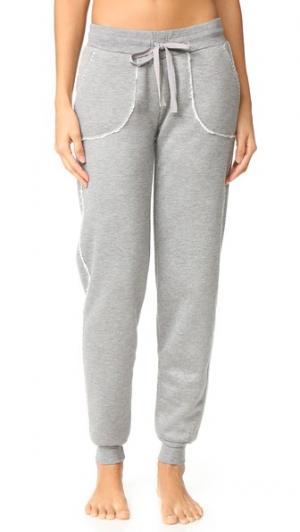 Пижамные брюки для бега PJ Salvage. Цвет: серый меланж