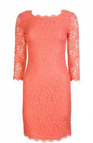 Платье Diane Von Furstenberg. Цвет: коралловый