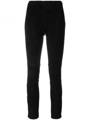 Укороченные брюки слим Laneus. Цвет: чёрный