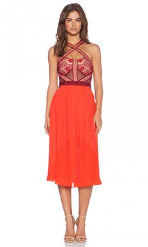 Платье true romance Three Floor. Цвет: красный