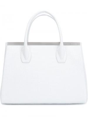 Классическая сумка-тоут Thomas Wylde. Цвет: белый
