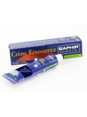 Восстановитель кожи Creme RENOVATRICE, 25 мл. (жидкая кожа)(904 морская волна) Saphir. Цвет: морская волна
