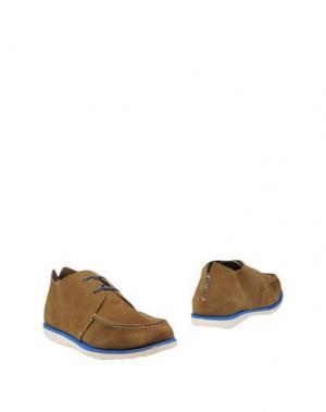 Полусапоги и высокие ботинки WALLY WALKER. Цвет: верблюжий