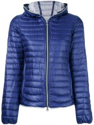Дутая куртка с капюшоном Duvetica. Цвет: синий
