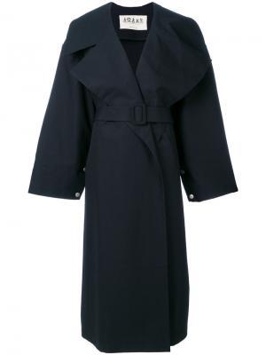 Удлиненное пальто с поясом A.W.A.K.E.. Цвет: чёрный