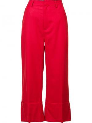 Укороченные брюки Sea. Цвет: красный