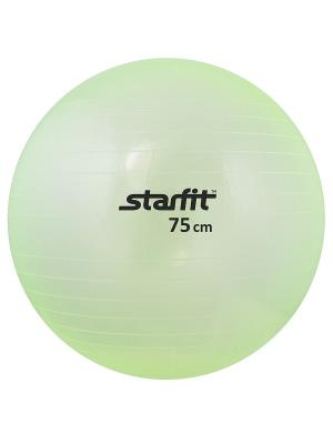 Мяч гимнастический STARFIT GB-105 75 см, прозрачный, зеленый. Цвет: зеленый