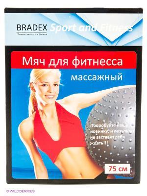 Мяч для фитнеса, массажный ФИТБОЛ-75 ПЛЮС BRADEX. Цвет: серебристый