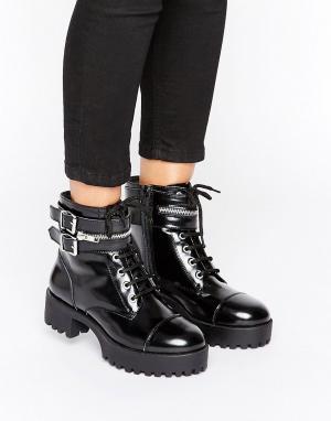 Park Lane Массивные ботинки в панк-стиле. Цвет: черный