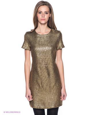 Платье SELA. Цвет: золотистый