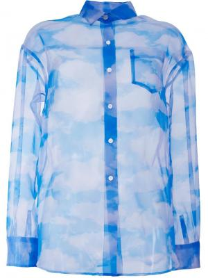 Рубашка с принтом облаков Taro Horiuchi. Цвет: белый