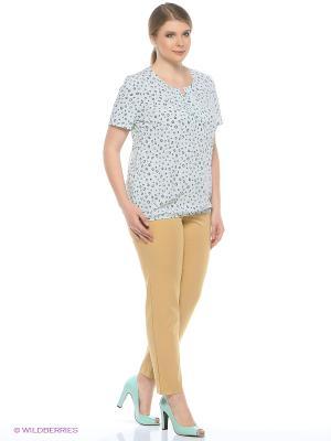 Блузка Битис. Цвет: бирюзовый