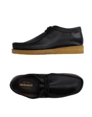 Обувь на шнурках SEBAGO. Цвет: черный