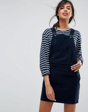 Jack Wills Вельветовое платье-комбинезон. Цвет: темно-синий