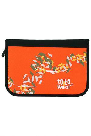 Пенал TOITO WEAR. Цвет: оранжевый