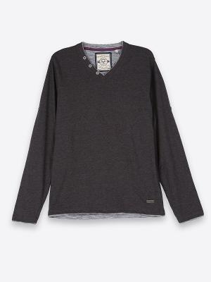 Пуловер Top Secret. Цвет: темно-серый