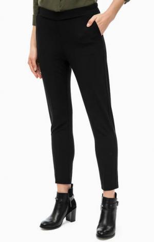 Зауженные черные брюки Mavi. Цвет: черный