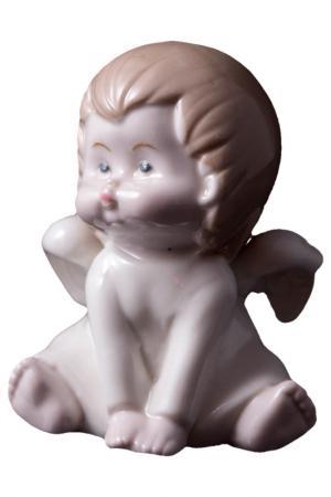 Фигурка декоративная, 8x6x10см Русские подарки. Цвет: бежевый, белый