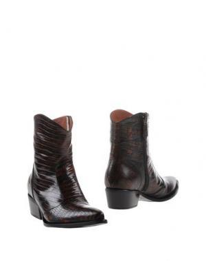 Полусапоги и высокие ботинки F.LLI BRUGLIA. Цвет: темно-коричневый
