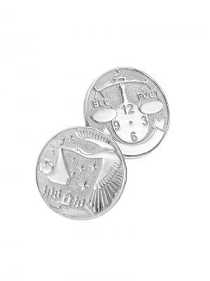 Памятная Монета На Рождение Малыша KU&KU. Цвет: серебристый