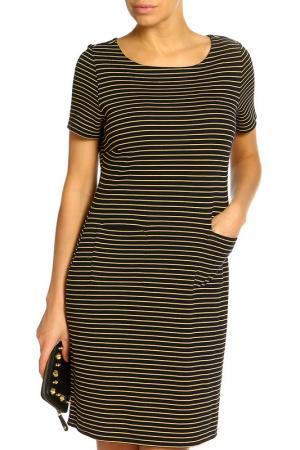 Платье Marks & Spencer. Цвет: темно-синий микс