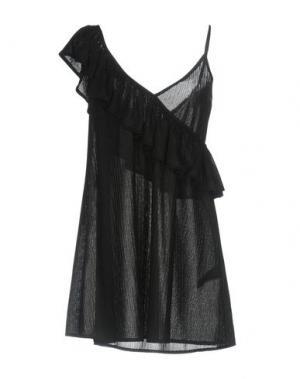 Короткое платье SPACE STYLE CONCEPT. Цвет: черный