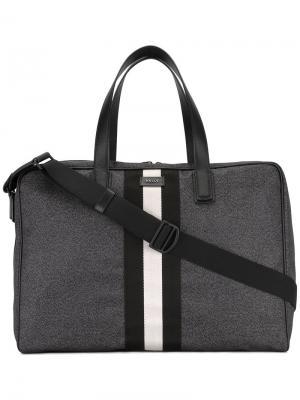 Полосатая дорожная сумка Bally. Цвет: серый
