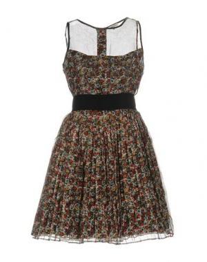 Короткое платье MANOUSH. Цвет: красный
