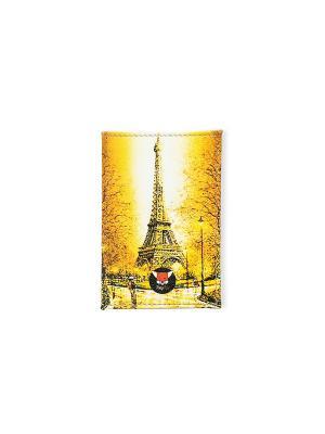 Чехол для проездного Та самая башня TonyFox. Цвет: желтый, оранжевый