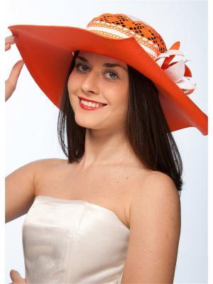 Шляпа Сиринга. Цвет: белый, оранжевый