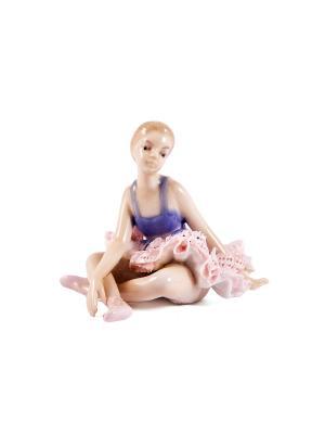 Статуэтка Балерина Русские подарки. Цвет: бежевый, синий