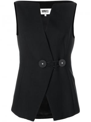Структурированный жилет Mm6 Maison Margiela. Цвет: чёрный