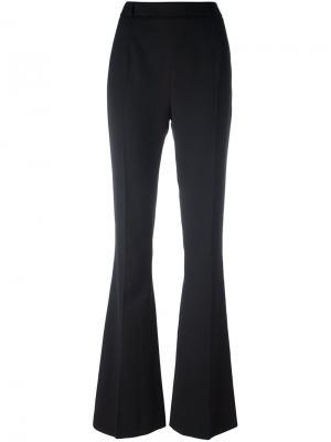 Расклешенные брюки с застежкой-молнией сзади Pierre Balmain. Цвет: чёрный
