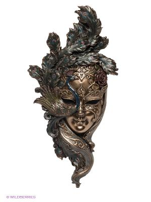 Венецианская маска Павлин Veronese. Цвет: бронзовый, золотистый