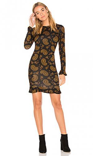 Платье с длинным рукавом beverly Clayton. Цвет: черный