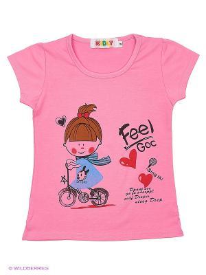Футболка Kidly. Цвет: розовый