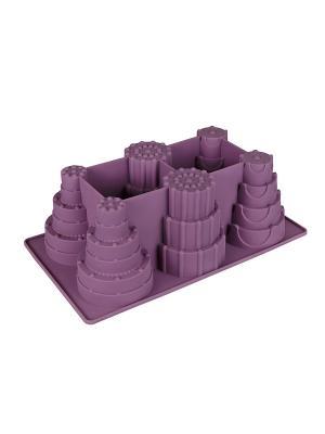 Силиконовые формы для выпечки Флексиформ Lurch. Цвет: фиолетовый