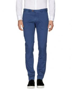 Повседневные брюки B SETTECENTO. Цвет: синий