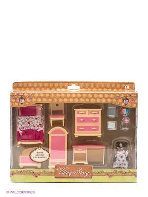 Игровой набор Детская комната девочки Gulliver. Цвет: бежевый, розовый