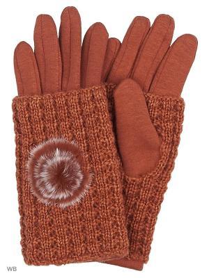 Перчатки Migura. Цвет: рыжий