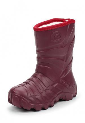 Резиновые сапоги Каури. Цвет: бордовый